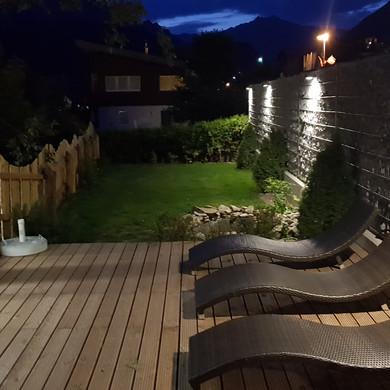 Alte Muehle Nauders Wellnessbereich Gartenanlage Ruhebereich
