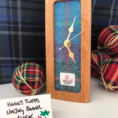 Harris Tweed Whisky Barrel Clock