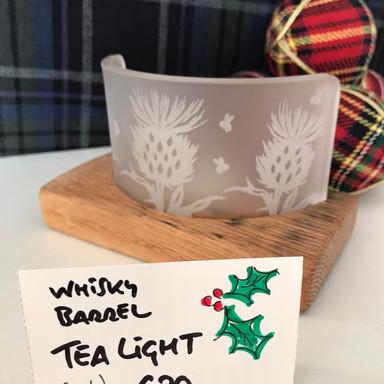 Whisky Barrel Tea-light-Thistle