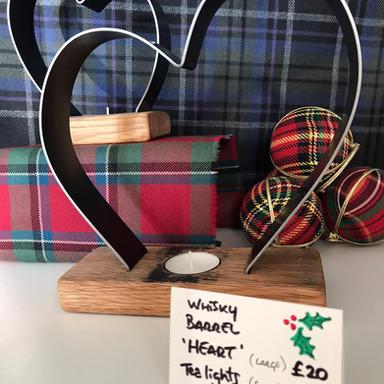Whisky Barrel 'Heart' T-Lights