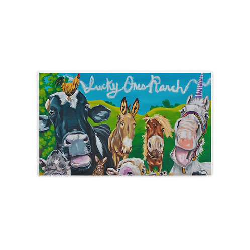 Lucky Ones Ranch Collage Premium Pillow Case