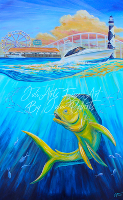 "NC State Seafood Festival Poster Winner: ""Morehead Memories"""