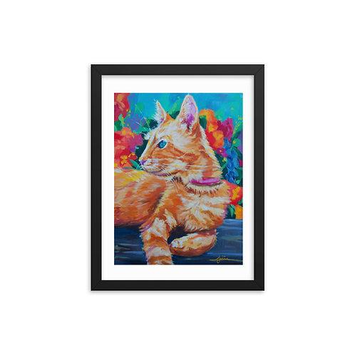 """Tigerlily"" Framed poster"