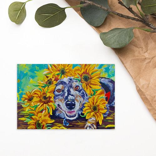 Flowers For Fonzie Standard Postcard