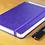 Thumbnail: 2 Stück - Bullet Journal A5 punktkariert mit Seitenzahlen -Lila