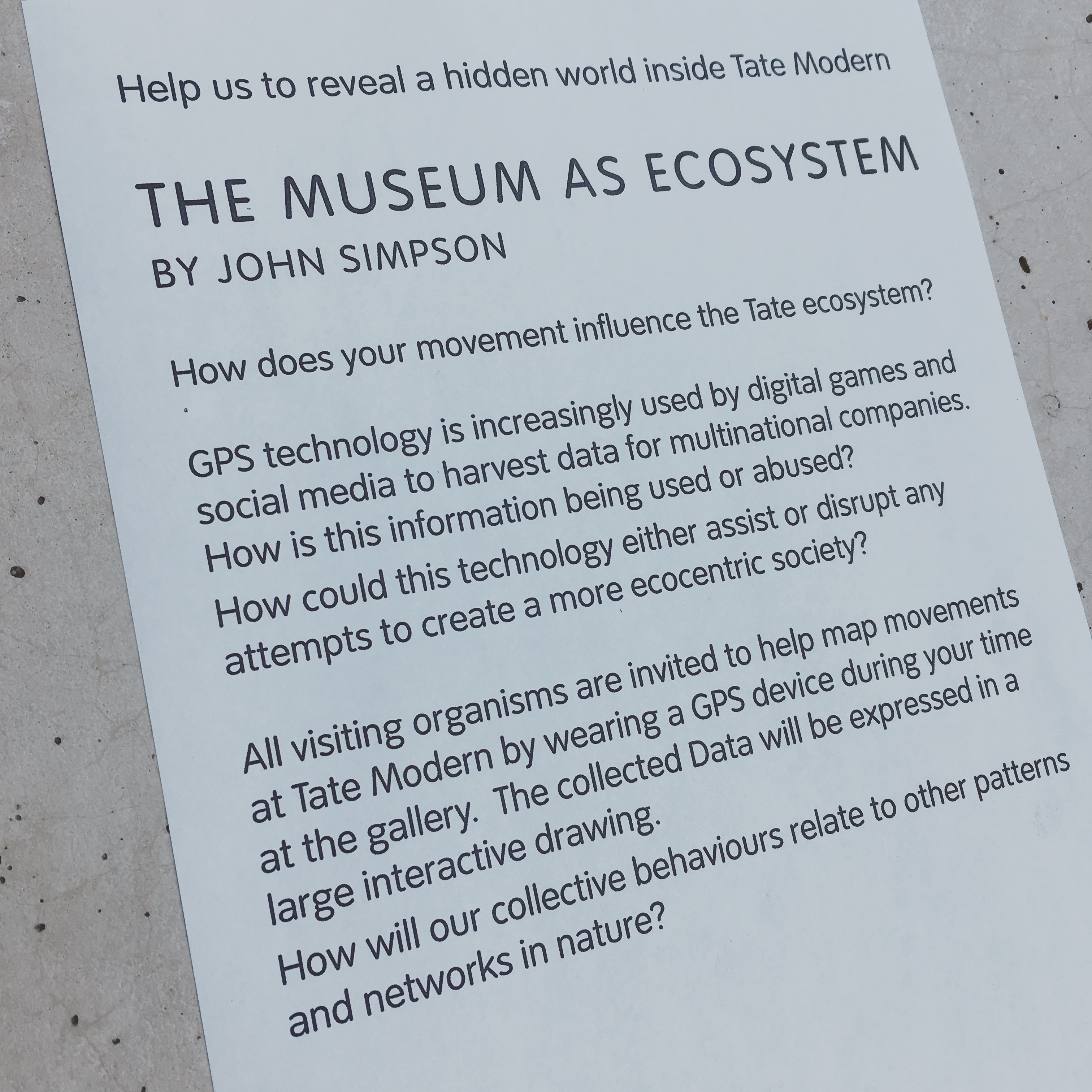 Museum as Ecosystem