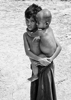 Two parentless Rohingya brothers in Bangladesh