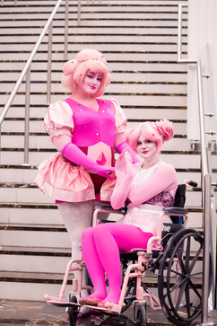 Pink Diamon & Pink Pear by Bakamono and SnowCappedCosplay