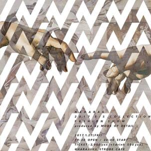 ファッションブランド『NADARAS』の2017春夏コレクションショーが1月27日に発表!