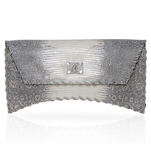 Bella Lizard Clutch in Natural