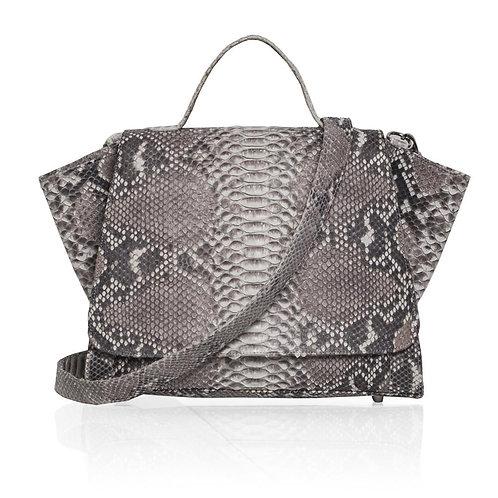 Gemma Python Satchel Bag