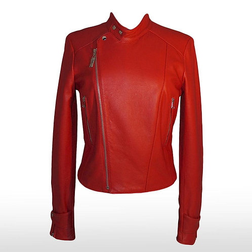 Merex Crocodile Jacket in Red