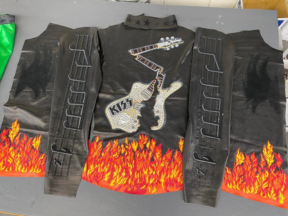 """Leather jacket inspired by Kiss's song """"Detroit  Rock City"""""""