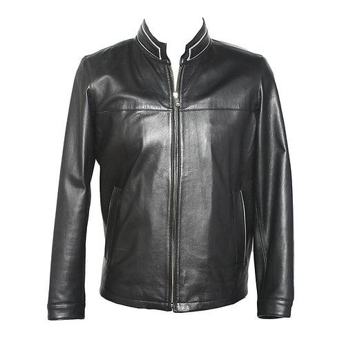 Málaga Jacket in Black with Grey Trim