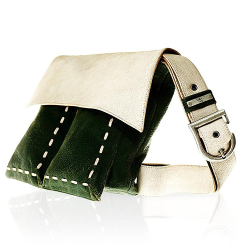 Belearica Cross Body Bag in Green/White