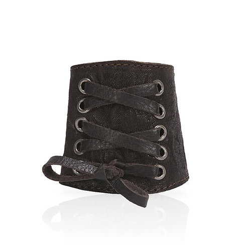 Adel Lace Cuff in Chocolate