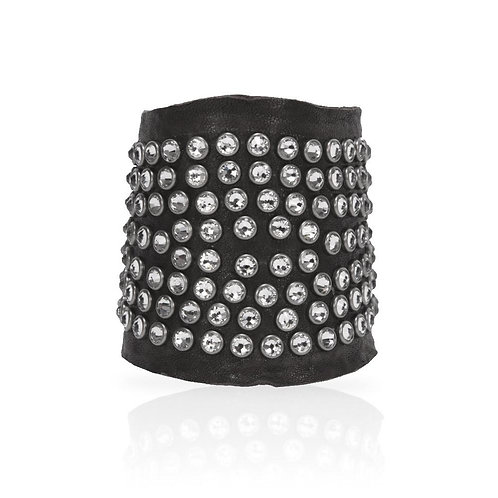 Adel Cuff Swarovski Crystals in Black/White