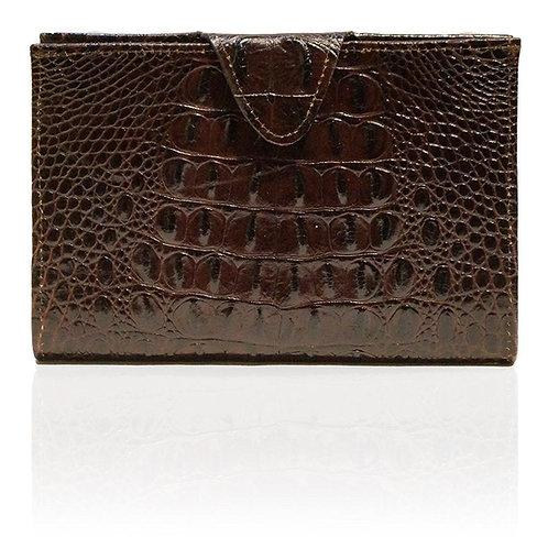 Rio Embossed Hornback Wallet in Chocolate