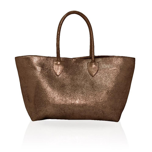 Monza Shopping Tote in Rose Gold