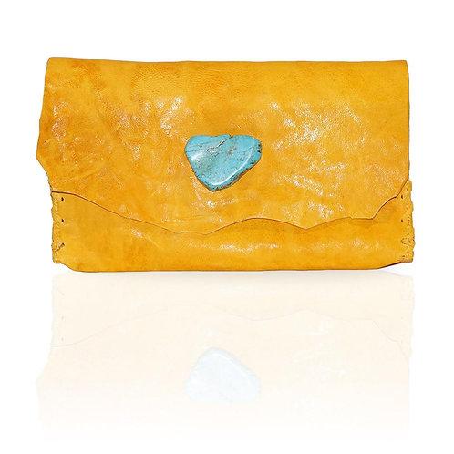 Marie Wallet/Clutch in Yellow