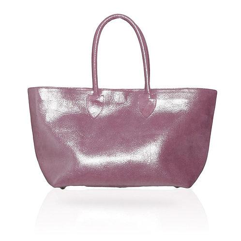 Monza Shopping Tote in Metallic Pink