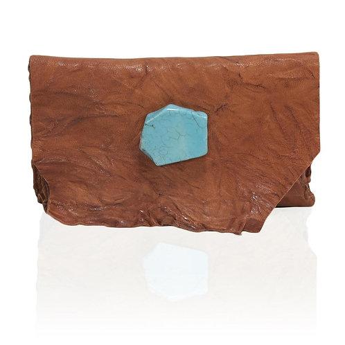Marie Wallet/Clutch in Rust