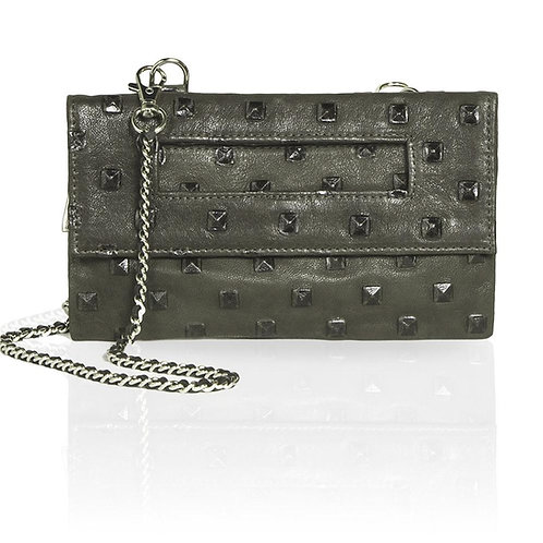 Capri Castle Studded 3-Way Pouch in Olive