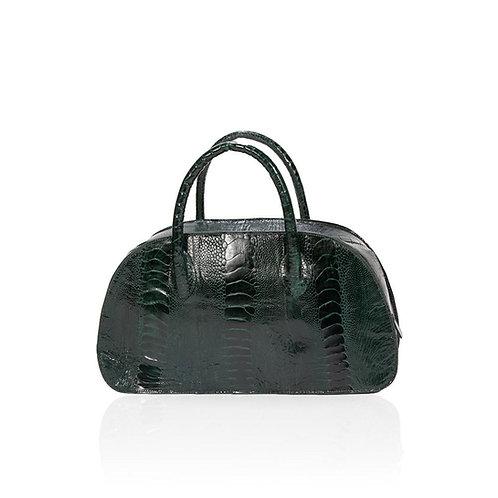 Vitoria Small Ostrich Handbag Forrest Green