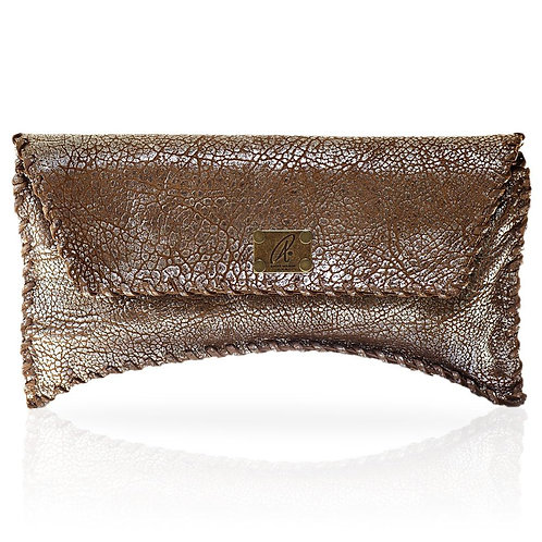 Bella Clutch in Distressed Silver