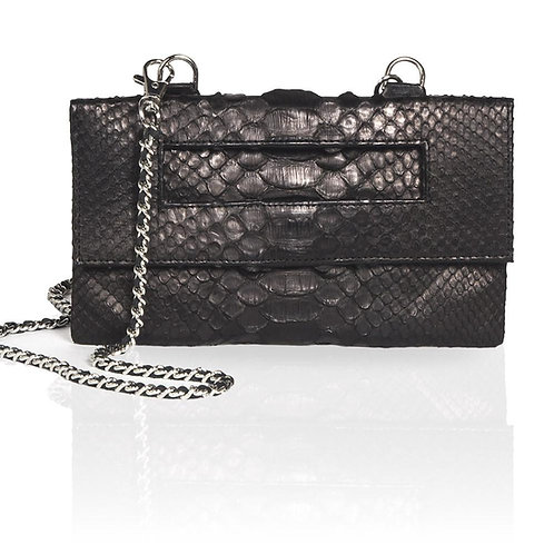 Capri Python 3-Way Pouch in Black