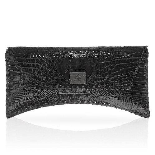Bella Hornback Clutch in Black