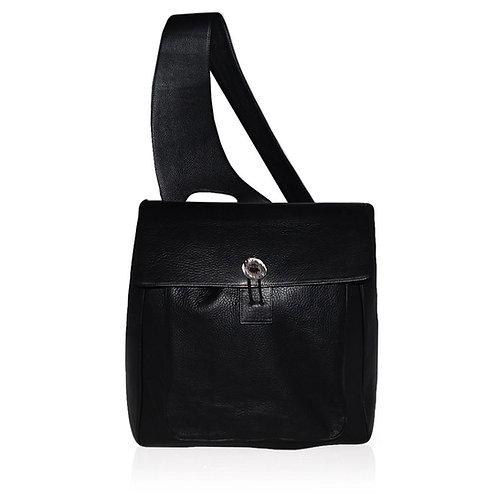 Gela Leather Backpack in Black