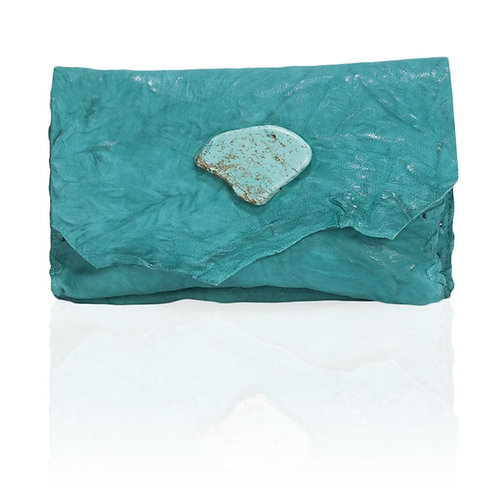Marie Wallet/Clutch in Turquoise