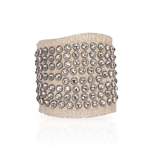 Adel Cuff Swarovski Crystals in White
