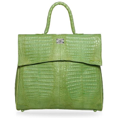 Mrin Crocodile Hobo Bag in Lime