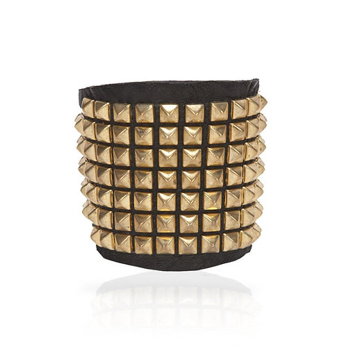 Adel Pyramid Cuff in Gold