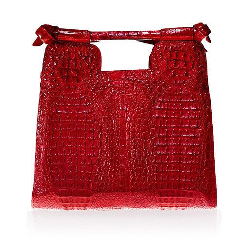 Natal Crocodile Handbag in Red