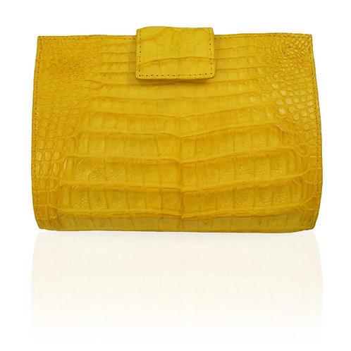 Rio Crocodile Wallet in Yellow