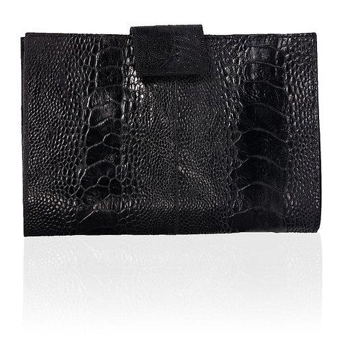 Rio Ostrich Wallet in Black