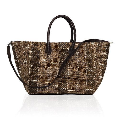 Monza Shopping Tote in Woven Silk