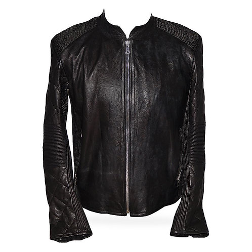 Potenza Leather Jacket in Black