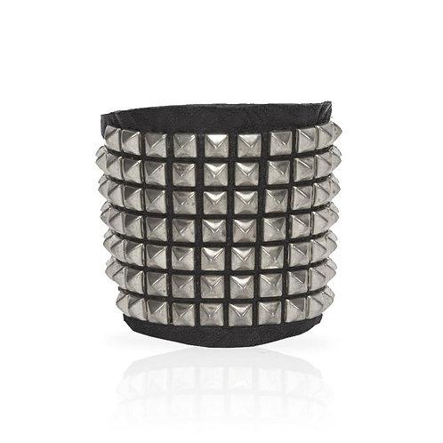 Adel Pyramid Cuff in Silver
