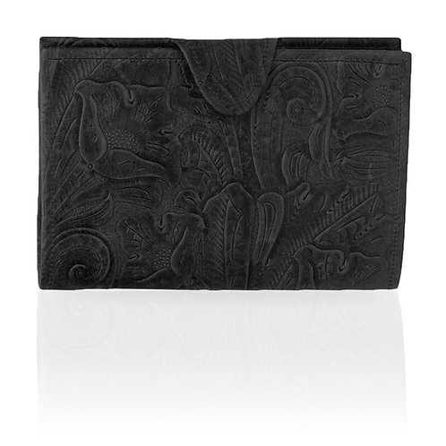 Adorned Black Wallet