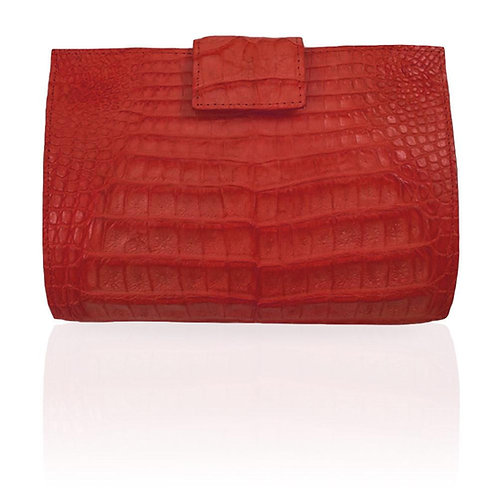 Rio Crocodile Wallet in Red