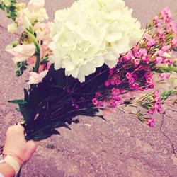 Fresh flowers for My mama to be on our l