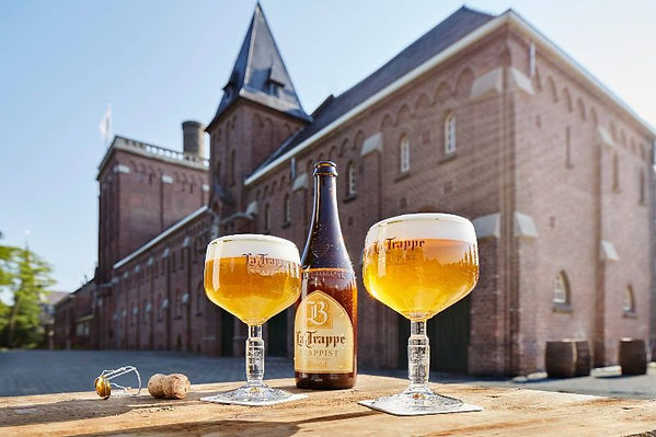 la-trappe-blond-75cl-glasses-at-brewery-