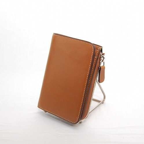 Wallet with button and Zip coin pouch