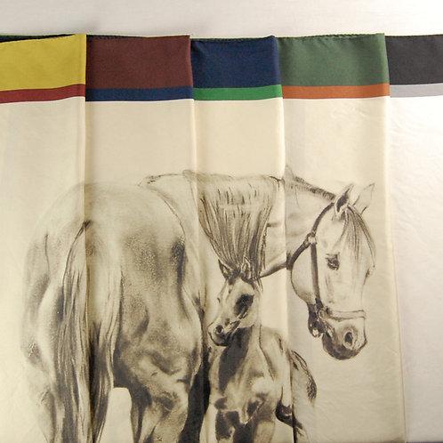 Silk Scarf - Horses print