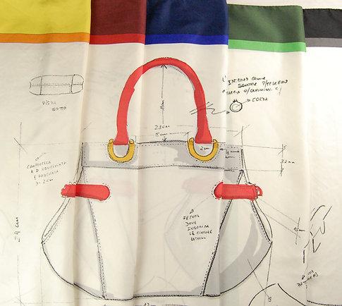 Silk Scarf - Bag print
