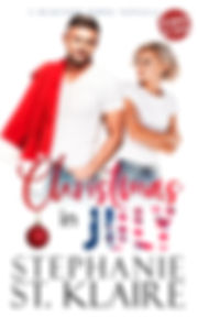 Christmas In July eBook with group logo.